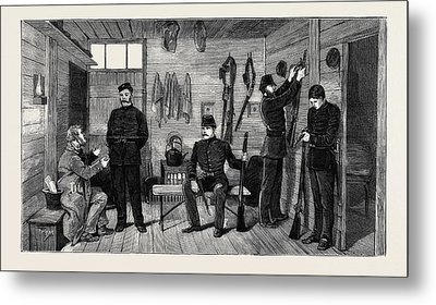 Interior Of A Police Hut At Gurranmore, Pallas Metal Print by Irish School