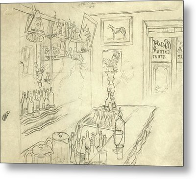 Interior Of Jack Mccann's Bar Metal Print