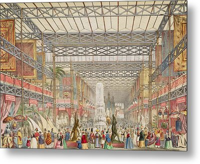 Interior Of The Crystal Palace, Pub Metal Print by Augustus Butler