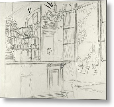 Interior Of The Grand Conde Bar Metal Print