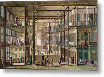 Interior Of The Harem Metal Print by Anton Ignaz Melling