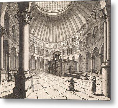 Interior Of The Holy Sepulchre In Jerusalem Israel Metal Print