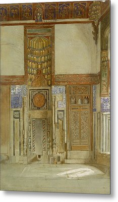 Interior Of The House Of The Mufti Metal Print by Frank Dillon