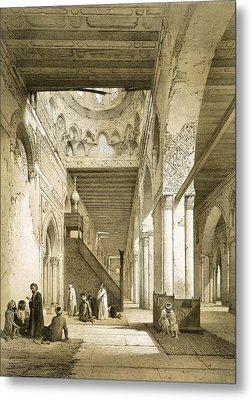 Interior Of The Maqsourah In The 9th Metal Print by Philibert Joseph Girault de Prangey