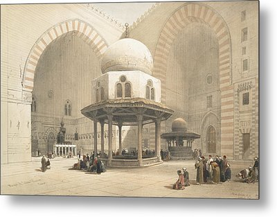 Interior Of The Mosque Of The Sultan El Metal Print by David Roberts