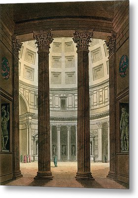 Interior Of The Pantheon, Rome Metal Print by Fumagalli