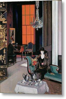 Interior - The Orange Blind, C.1928 Metal Print