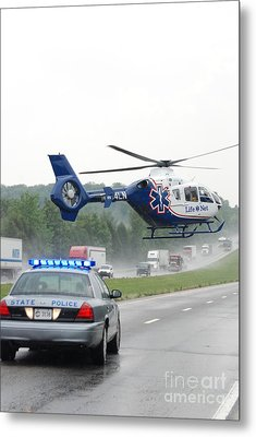 Interstate Rescue Metal Print by Steven Townsend