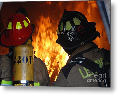 Into The Fire Metal Print by Steven Townsend