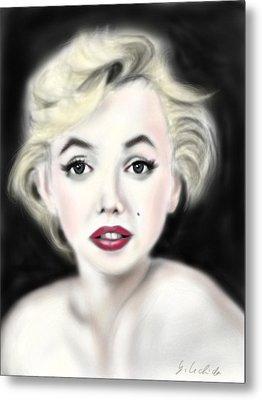 iPad Portrait Marilyn Metal Print