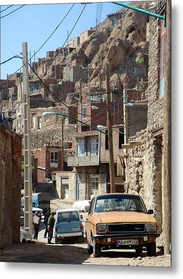 Iran Kandovan Cars And Wires Metal Print by Lois Ivancin Tavaf