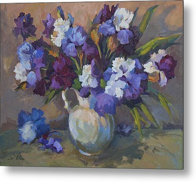 Irises Metal Print by Diane McClary