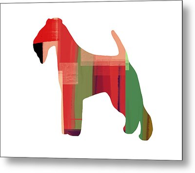 Irish Terrier Metal Print by Naxart Studio