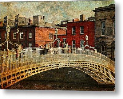 Irish Venice. Streets Of Dublin. Painting Collection Metal Print by Jenny Rainbow