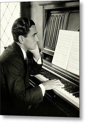 Irving Berlin At A Piano Metal Print