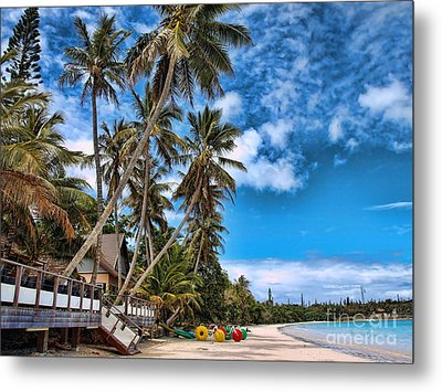 island in the Pacific Metal Print by Trena Mara
