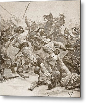 It Was Bayonet To Bayonet, Illustration Metal Print by Alfred Pearse