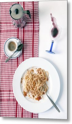Italian Food Metal Print by Joana Kruse
