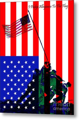 Iwo Jima 20130210 I Pledge Allegiance To The Flag Metal Print by Wingsdomain Art and Photography