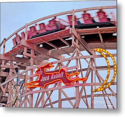 Jack Rabbit Coaster Kennywood Park Metal Print by Jim Zahniser