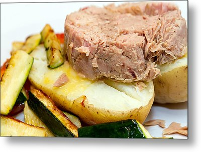 Jacket Potato With Tuna Filling Metal Print by Fizzy Image