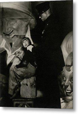 Jackie Coogan With A Policeman Metal Print by Edward Steichen