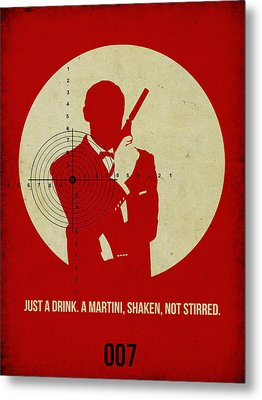 James Bond Goldenfinger Poster Metal Print