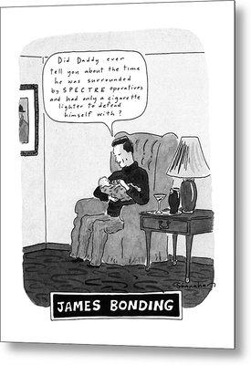 James Bonding Metal Print
