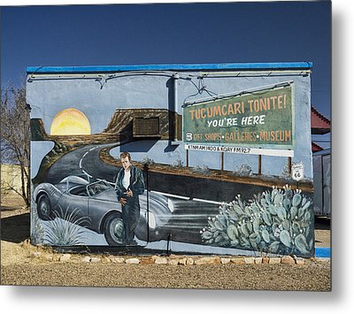 James Dean Mural In Tucumcari On Route 66 Metal Print