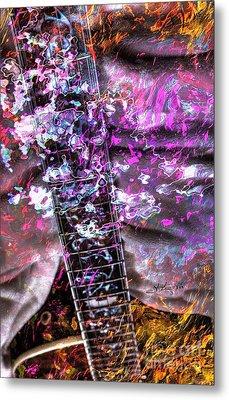 Jammin Out Digital Guitar Art By Steven Langston Metal Print by Steven Lebron Langston