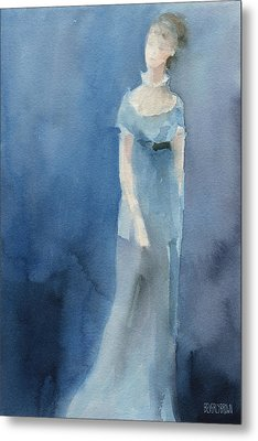 Jane Austen Watercolor Painting Art Print Metal Print by Beverly Brown