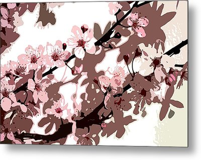 Japanese Blossom Metal Print by Sarah OToole