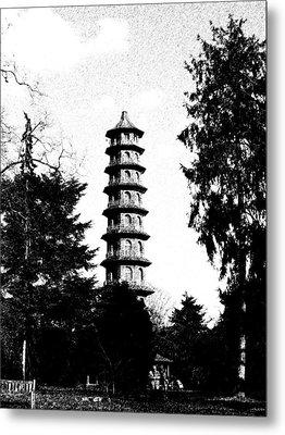 Japanese Pagoda At Kew Gardens Metal Print