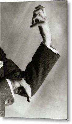 Jascha Heifetz' Hands Metal Print by Francis Bruguiere