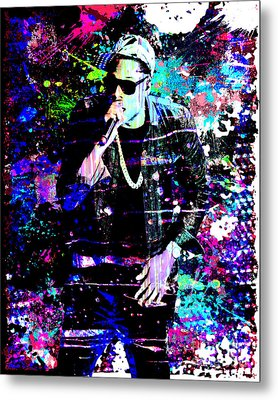Jay Z Original Painting Art Print Metal Print by Ryan Rock Artist