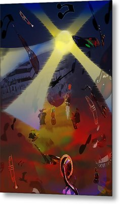 Metal Print featuring the digital art Jazz Fest II by Cathy Anderson