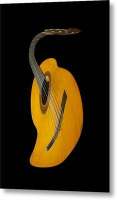 Jazz Guitar Metal Print by Debra and Dave Vanderlaan