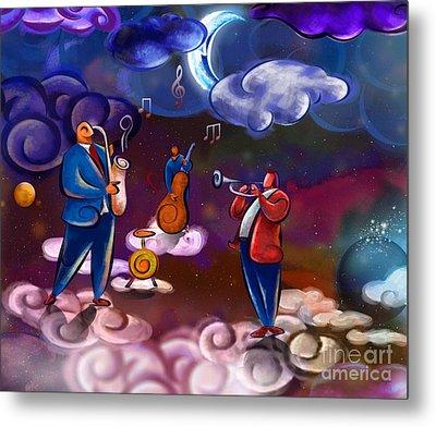 Jazz In Heaven Metal Print by Bedros Awak