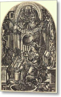 Jean Duvet, French 1485-c. 1570, The Revelation Of Saint Metal Print