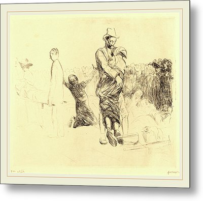 Jean-louis Forain, Lourdes, Transport Of The Paralyzed Metal Print by Litz Collection