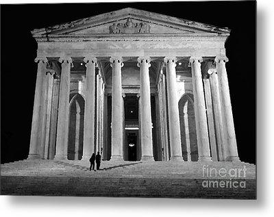 Jefferson Monument At Night Metal Print