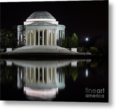 Jefferson Reflections Metal Print by Dale Nelson