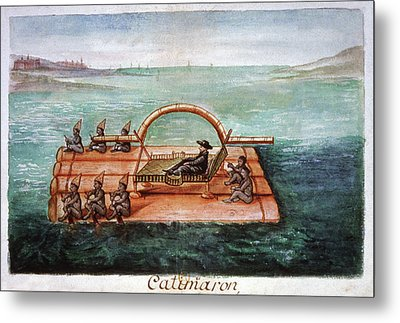 Jesuit Ambassador On A Raft Metal Print by Cci Archives