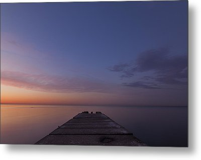 Jetty Into The Light Metal Print