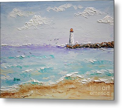 Jetty Lighthouse Metal Print by Jimmie Bartlett