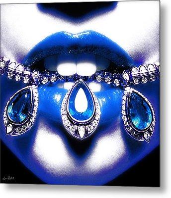 Jewelips Soft Blue Metal Print