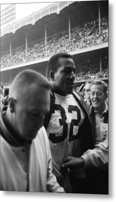 Jim Brown After Game Fans Clapping Metal Print