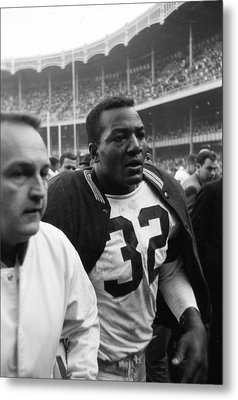 Jim Brown Post Game  Metal Print by Retro Images Archive