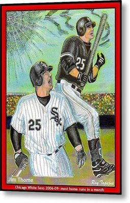 Jim Thome Chicago Power Hitter Metal Print by Ray Tapajna