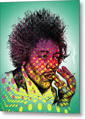 Jimmie Hendrix  Metal Print by Mark Ashkenazi